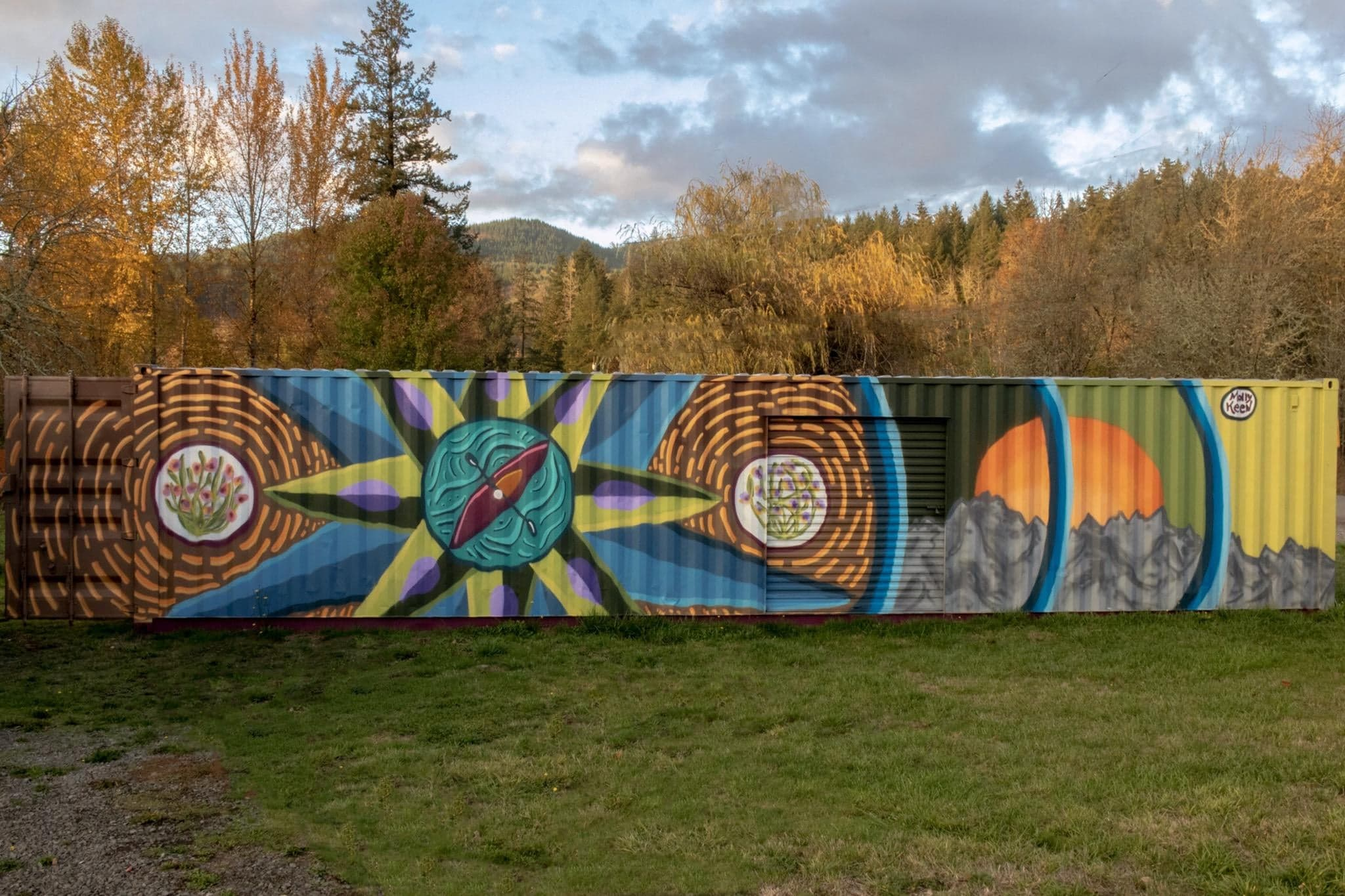 The Majestic Mural of the Santiam River